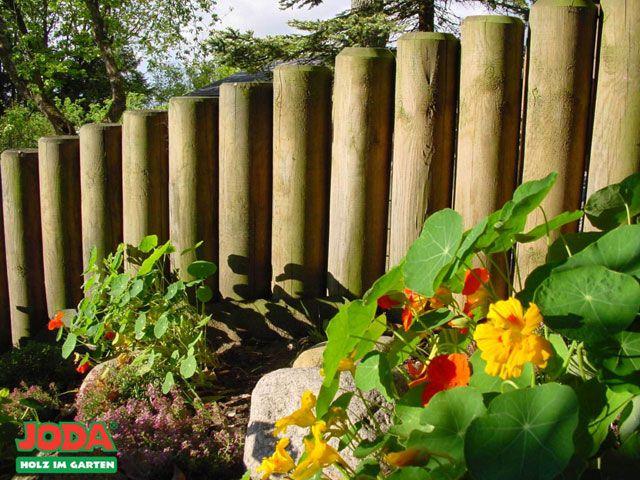 Holzpalisaden Einfassung Von Wegen Gartenbau Landschaftsbau